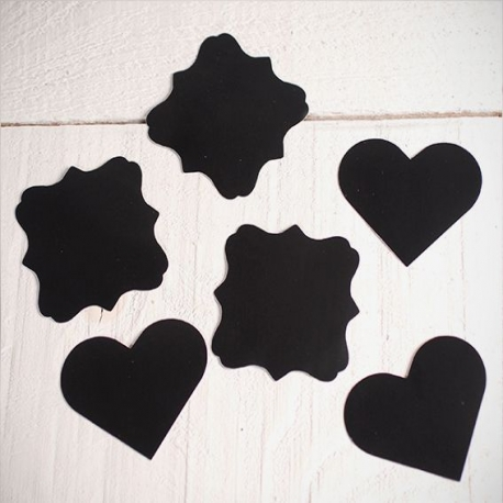 Chalkboard sticker tags in different shapes