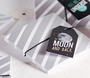 Schachtel für CD mit galaktischer Dekoration