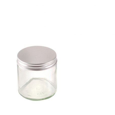 Frasco de cristal 250ml para velas aromáticas