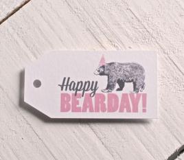 Etichette Happy Bearday