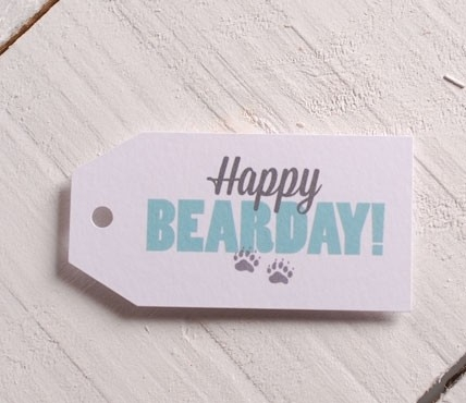Etiquetas Happy BEARDAY