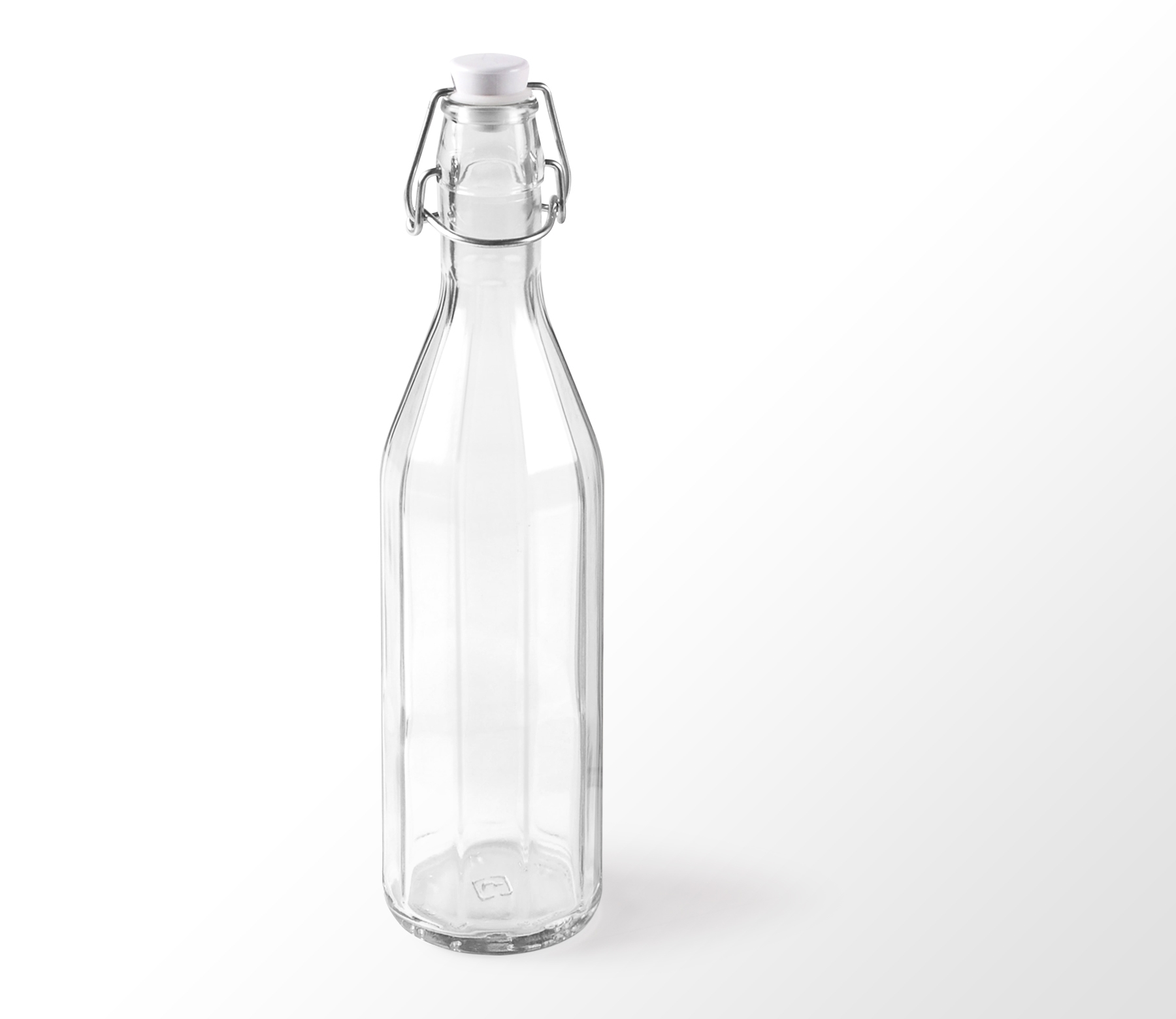Customizable Glass Bottles with a Label and Cardboard Box