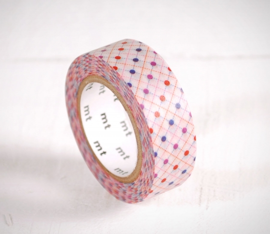 Washi tape con topos de colores