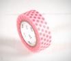 Washi tape con punti rosa fluo