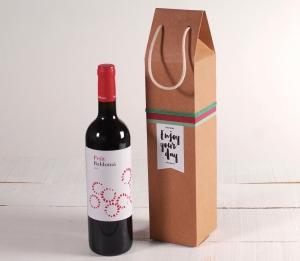 Scatola per il vino con linguetta