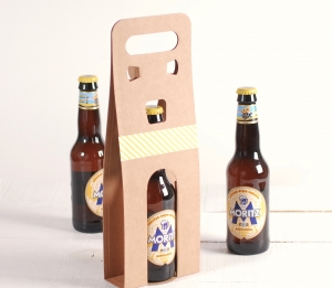 Scatola decorata per birra