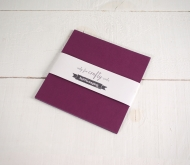 Sirio Wine coloured 16.5x 16.5 cm Card