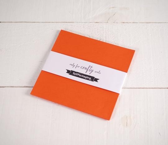 Sirio Orange coloured 16.5x 16.5cm Card