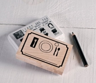 'Place card' - Rubber stamp set