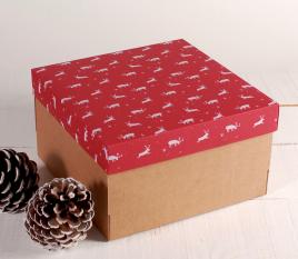 Caja para regalos con Renos