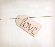 Wooden Love label
