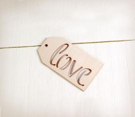 Wooden Love label