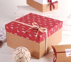 Cajita decorada para Navidad