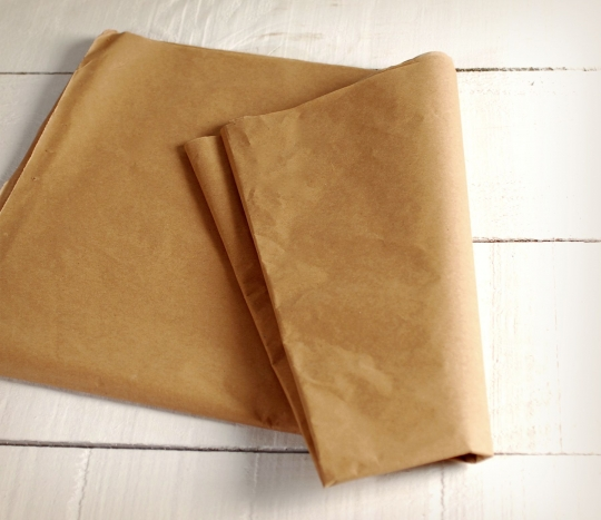 Kraft-coloured Manila paper