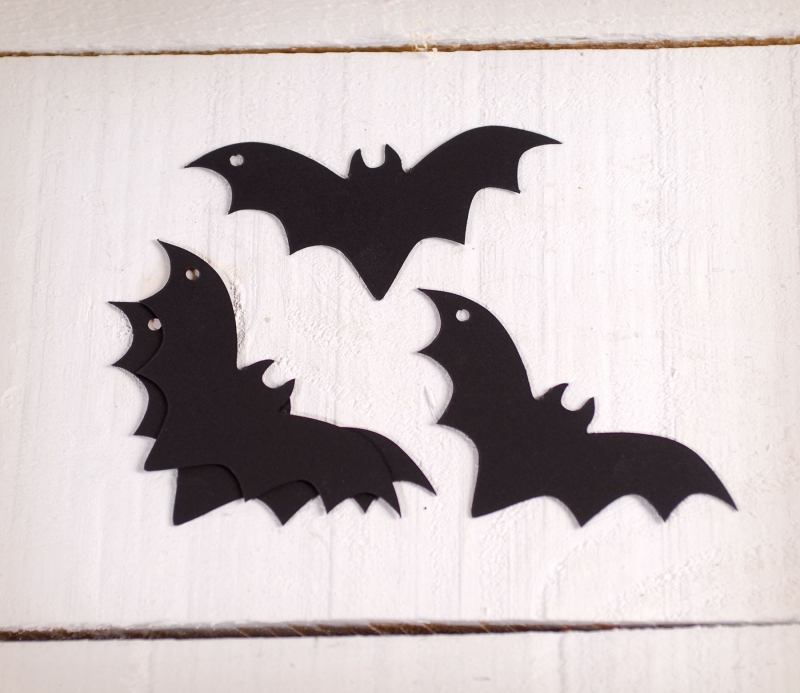 Cardboard Bats Decorate For Halloween