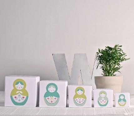 Kit di scatole stampate - matrioska