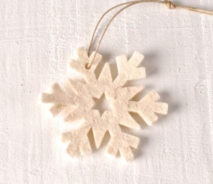 Felt Pendant - Snowflake