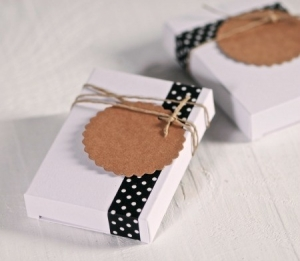 Cute gift box in white