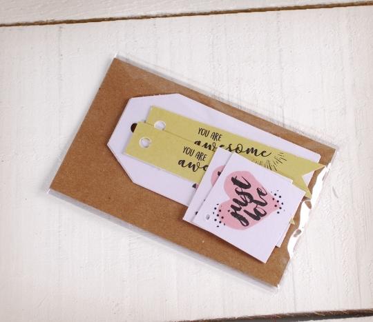 Kit di etichette stampate Love