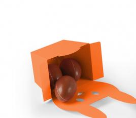 Rabbit shaped gift box