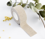 Fabric tape de lino ancho