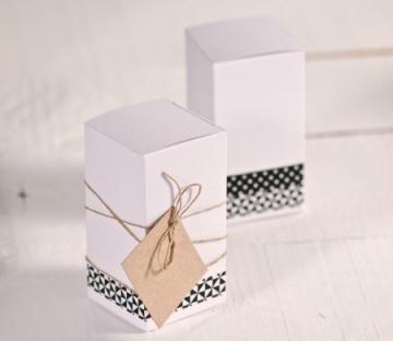 Rectangular cardboard boxes