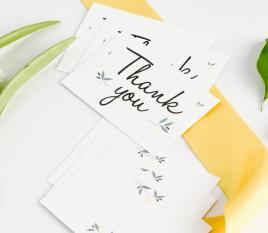Tarjetas con mensaje para bodas
