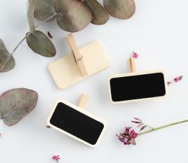 Mini-Tafeln mit Klammer