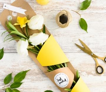 Caja para regalar flores