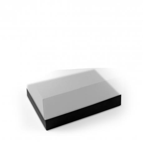 Caja forrada rectangular