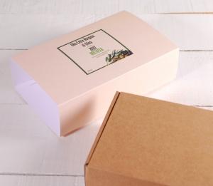 Schachtel für Olivenöl mit Ummantelung