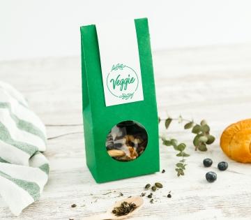Caja para alimentos con ventana