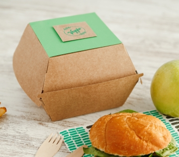 Caja take away hamburguesa