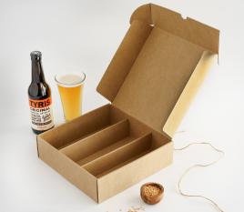 Scatola piatta con holder per birre