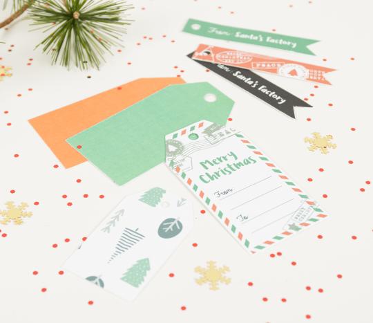 Weihnachts-Etiketten-Set