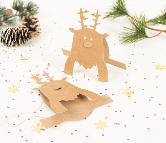 Die-cut Rudolph accessory