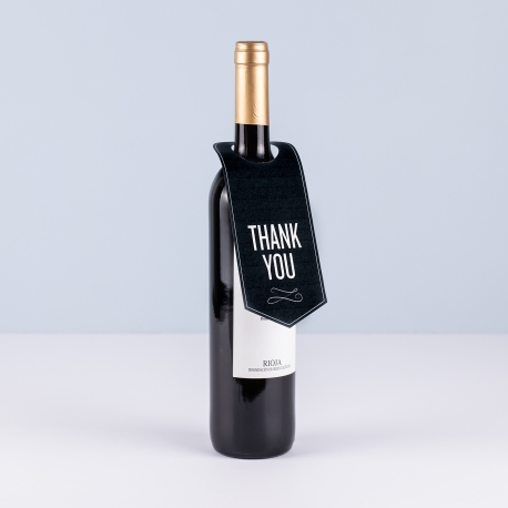 Wine bottle neck label.