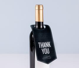 Etiqueta para cuello de botella