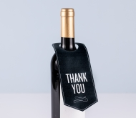 Wine bottle neck label.