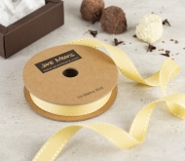 Yellow ribbon with backstitching
