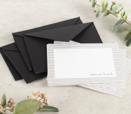 Envelopes and thank you cards.