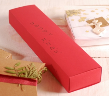 Rectangular Christmas card box idea