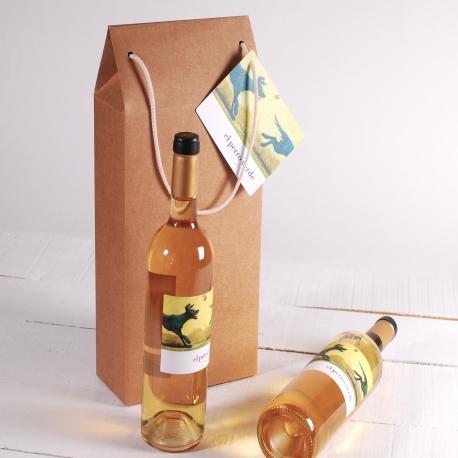 Decoración caja grande de vino con asa