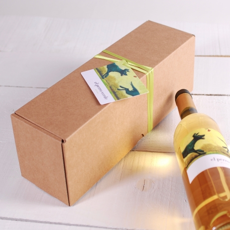 Oblong wine box decoration