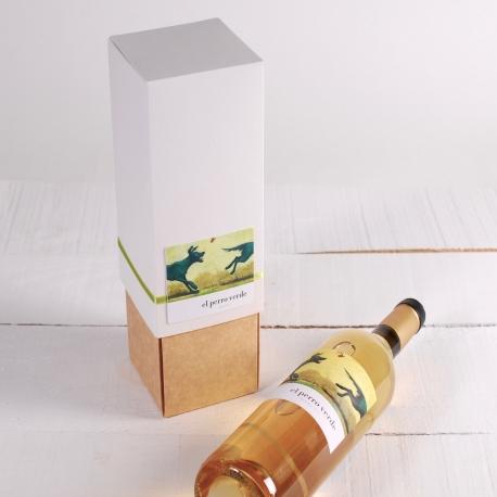 Decoración caja de vino con folder