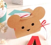 Cajita regalo con forma de animales conejo