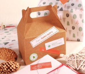 Decorazione natalizia scatola picnic