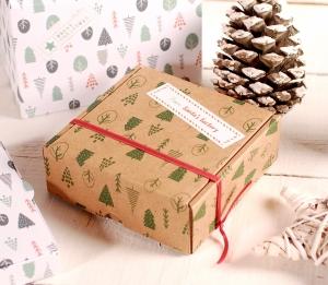 Decorazione scatola natalizia