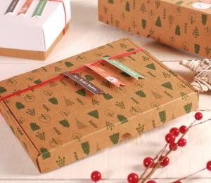 Flat Christmas box decoration