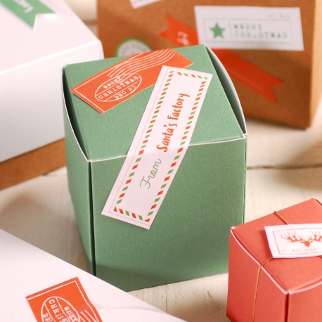 Decoración navideña caja cuadrada